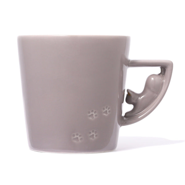 CAT FIGURE MUG GRAY