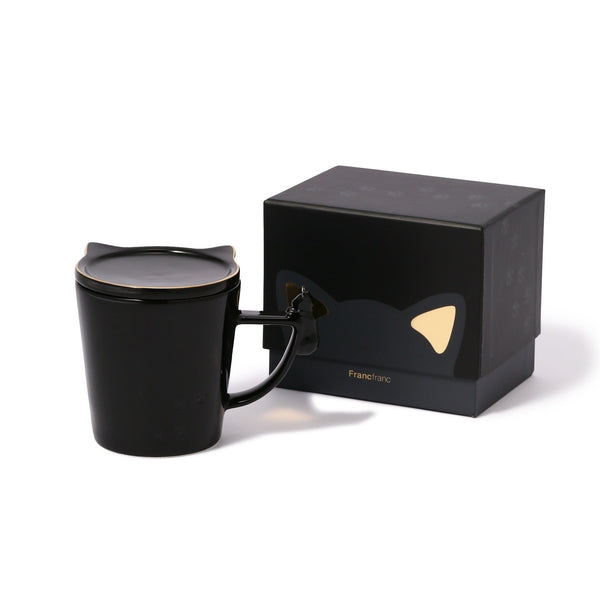 CAT FIGURE MUG BLACK