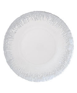 FLASH Glass Plate Large Silver
