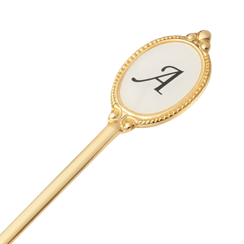 ALPHABET Tea Spoon Gold A