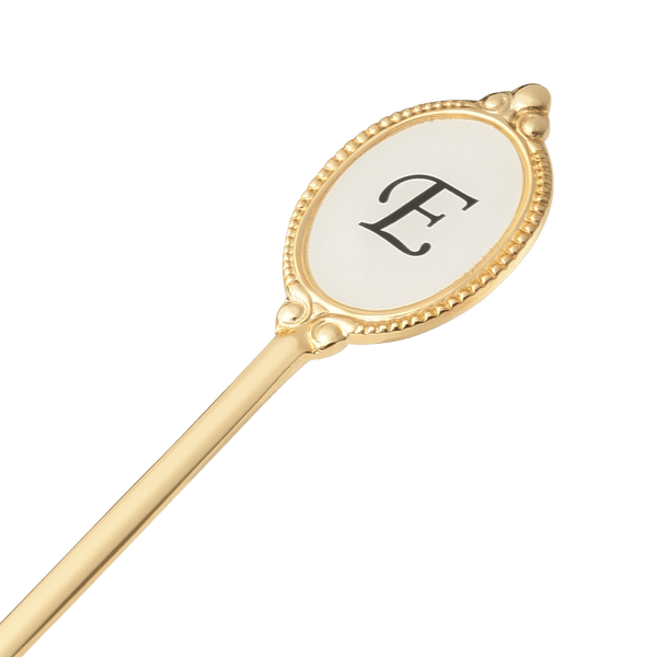 ALPHABET Tea Spoon Gold E