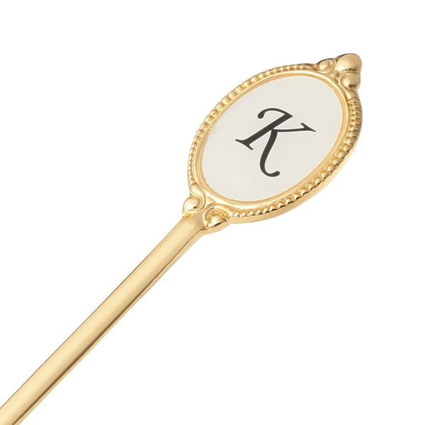 ALPHABET TEA SPOON GOLD K