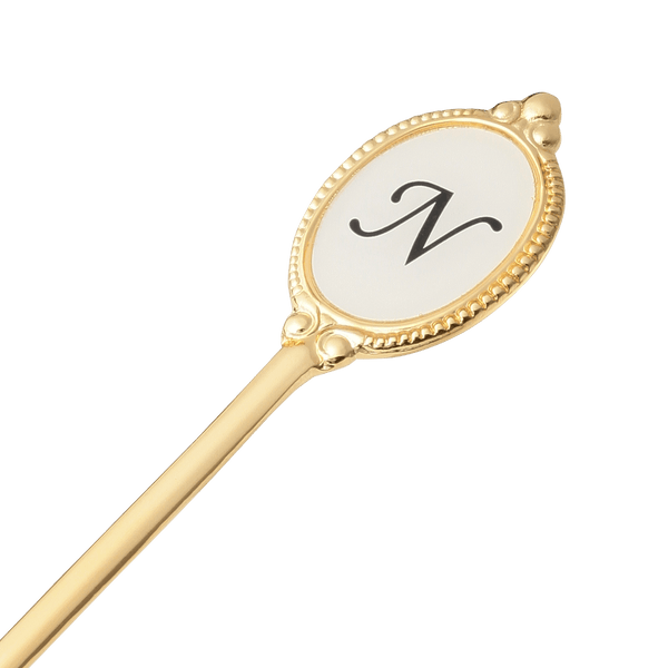 ALPHABET Tea Spoon Gold N
