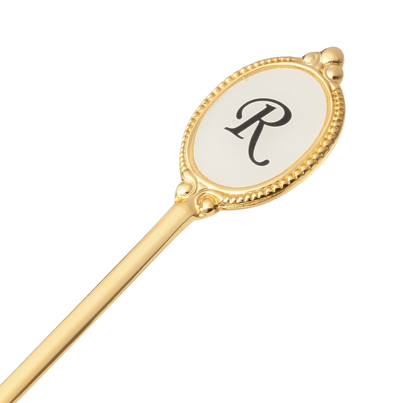 ALPHABET Tea Spoon Gold R