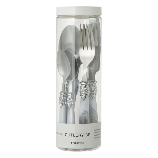 BELLE CUTLERY 8P SET MARBLE WHITE