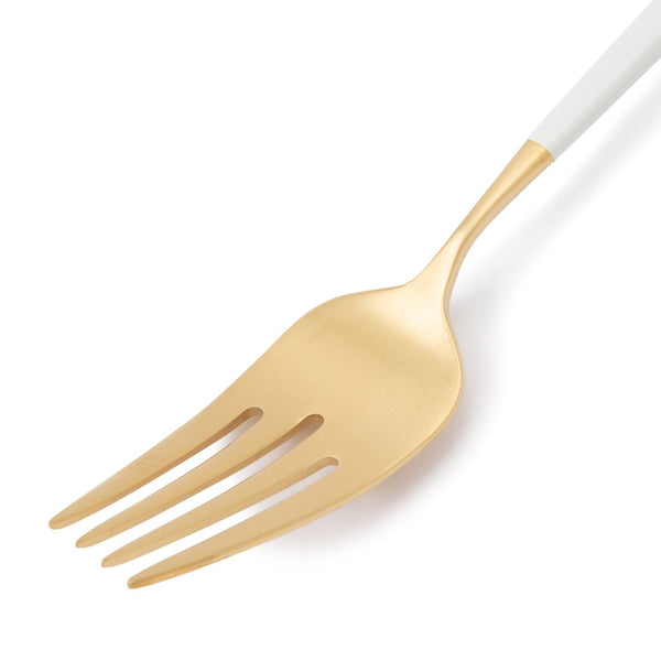 WELLE DINNER FORK Gold x White