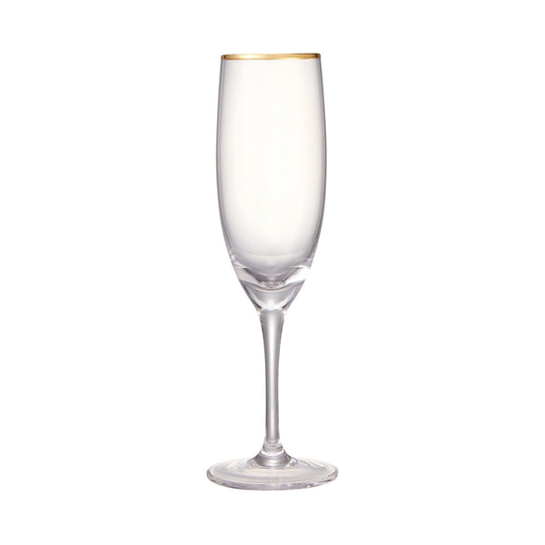 RIM CHAMPAGNE GLASS GD