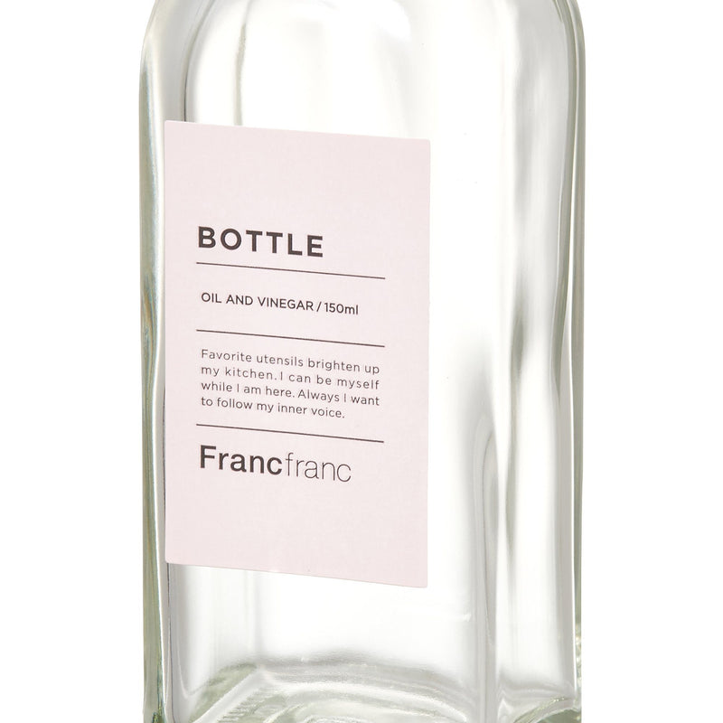 OIL&VINEGAR BOTTLE Small White
