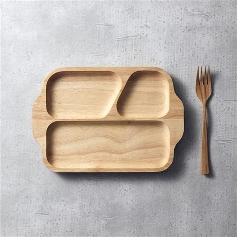 WOODEN SEPARATE PLATE Natural
