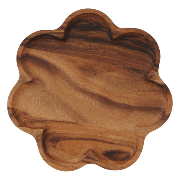 NOVEL Flower Plate Large Dark Brown