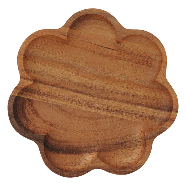 NOVEL Flower Plate Small Dark Brown