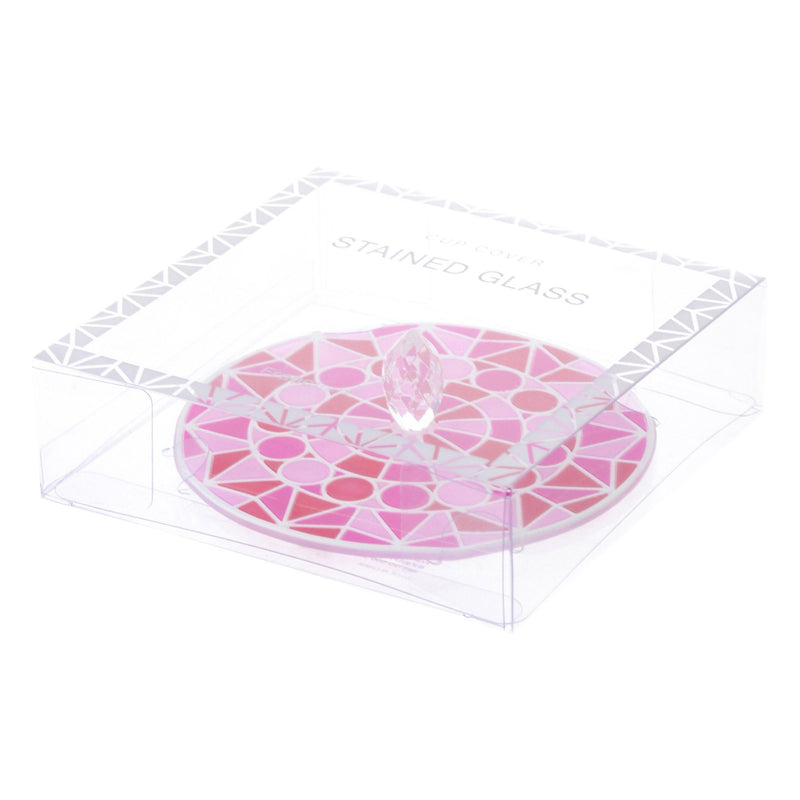 STAINED Glass Cup Cover Pink