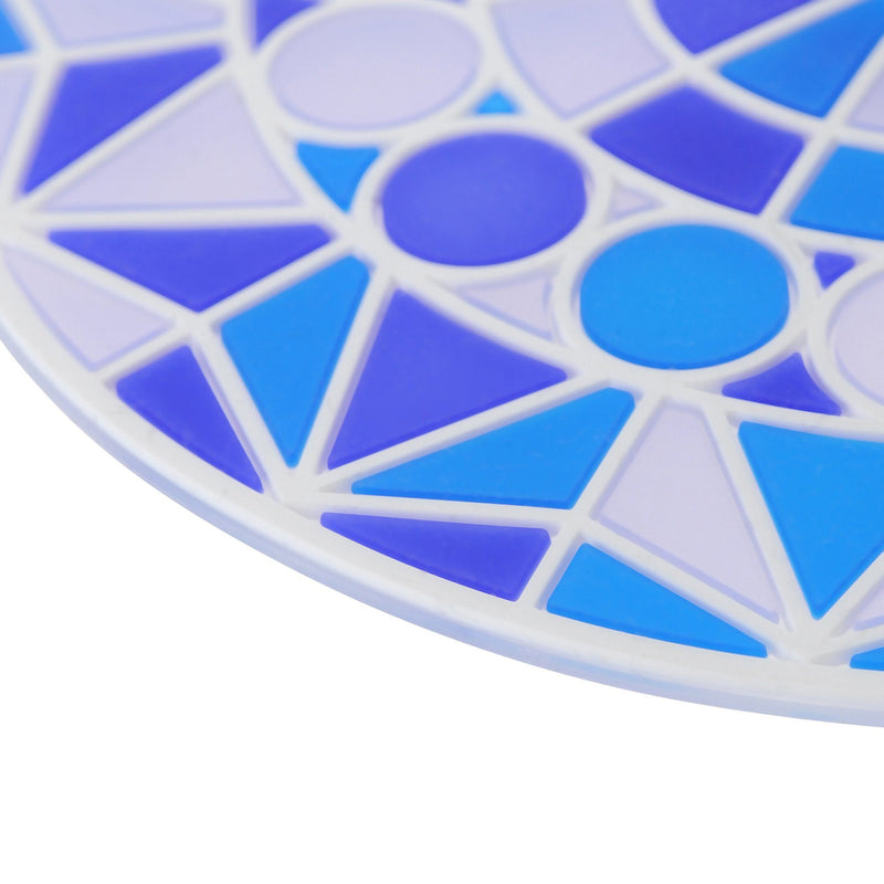 STAINED Glass Cup Cover Blue