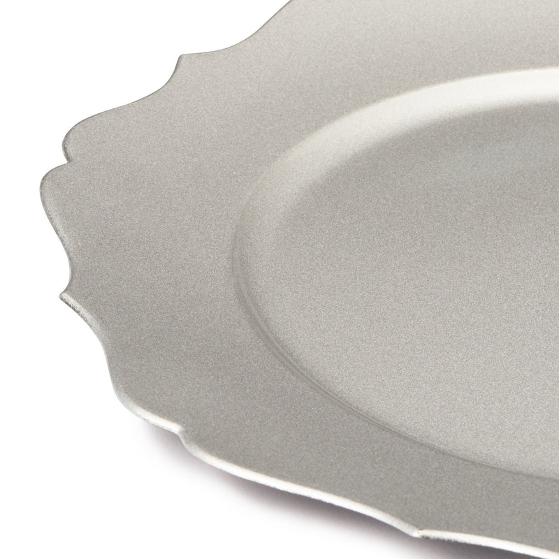 CHARGER TRAY ORNAMENT SILVER