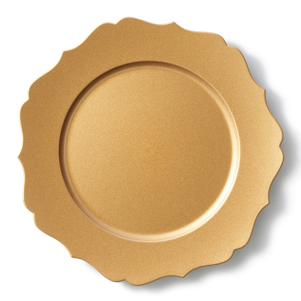 CHARGER TRAY ORNAMENT GOLD