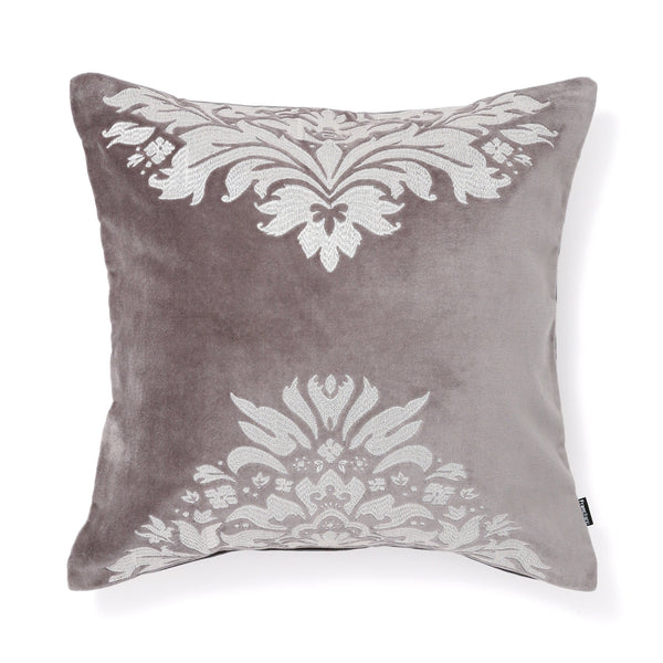 EMB ORNAMENT B CUSHION COVER 45 GRAY