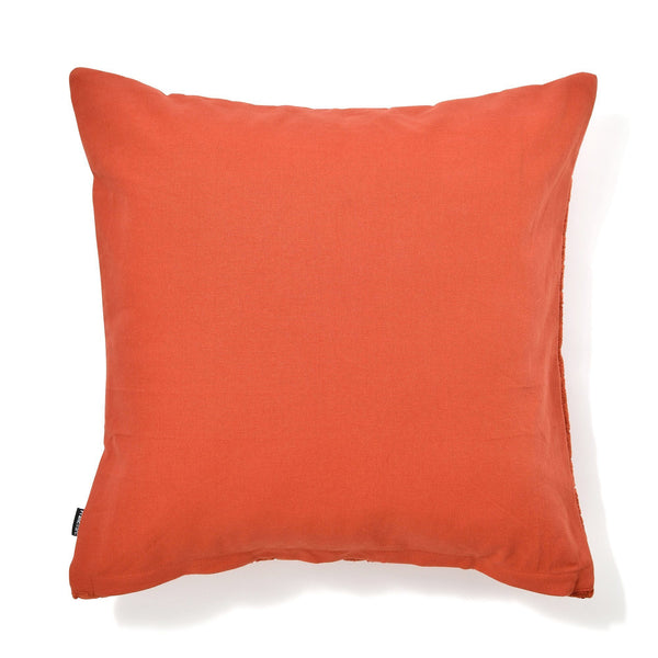 CHENILLE PLAID CUSHION COVER 45 ORANGE