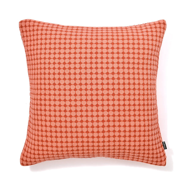 WEAVE CHECK CUSHION COVER 45 RED X ORANGE