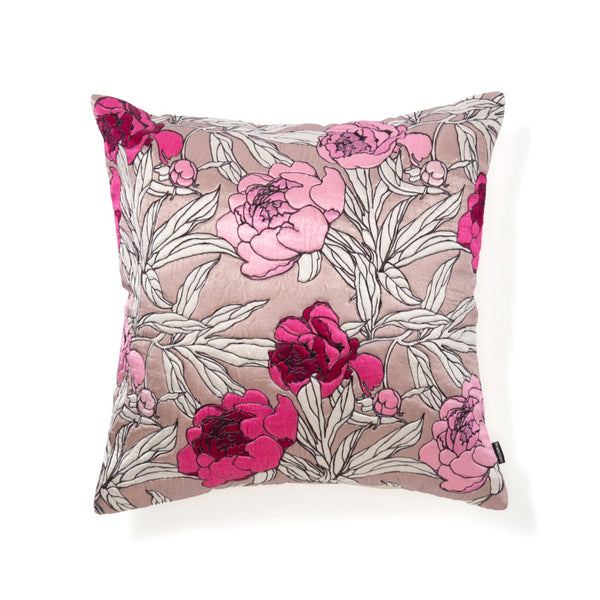 SATIN FLOWER CUSHION COVER  45 PK