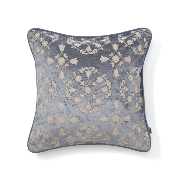 EMB ORNAMENT F CUSHION COVER 45 BL
