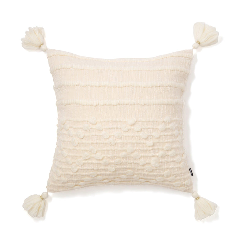 MOHAIR SOLID X SLAB CUSHION COVER 45 WH
