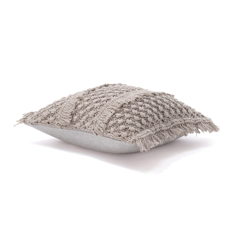 KNIT SOLID C CUSHION COVER 45 GY