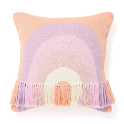 KNIT RAINBOW CUSHION COVER 45 MULTI