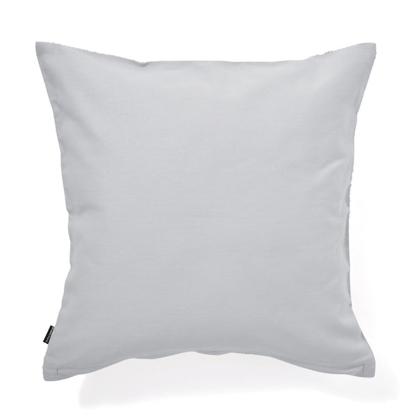 VELVET WAVE CUSHION COVER 45 LIGHT GREY