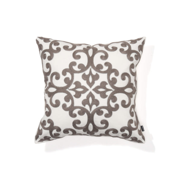 EMB ORNAMENT E CUSHION COVER 45 LGY