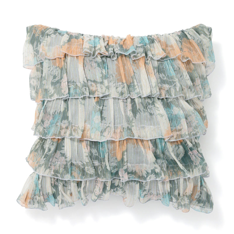 FRILL FLORAL CUSHION COVER 45 LBL