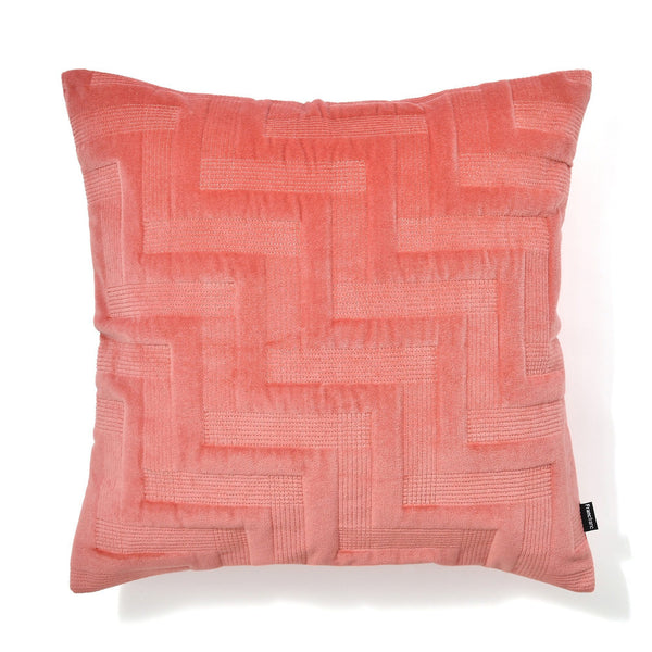 VELVET ZIGZAG CUSHION COVER 45 ORANGE