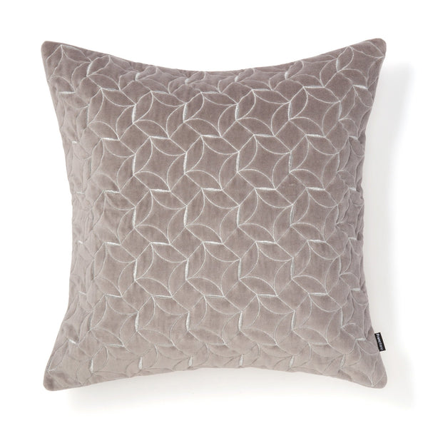 EMB GEOMETRIC CUSHION COVER 45 GREY