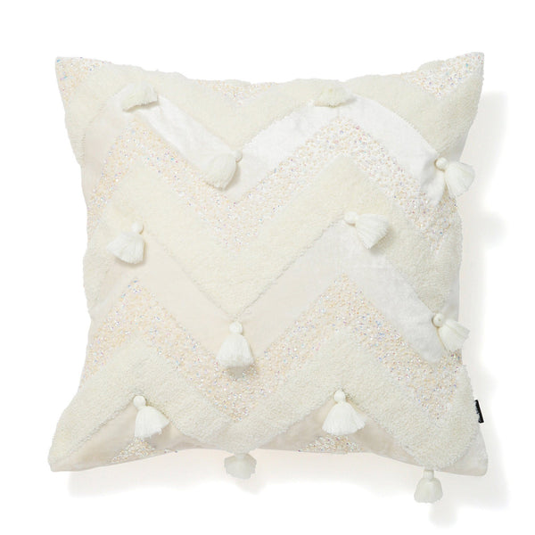 VELVET CUSHION COVER 45 WHITE