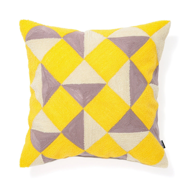 EMB CUSHION COVER 45 PINK X YELLOW