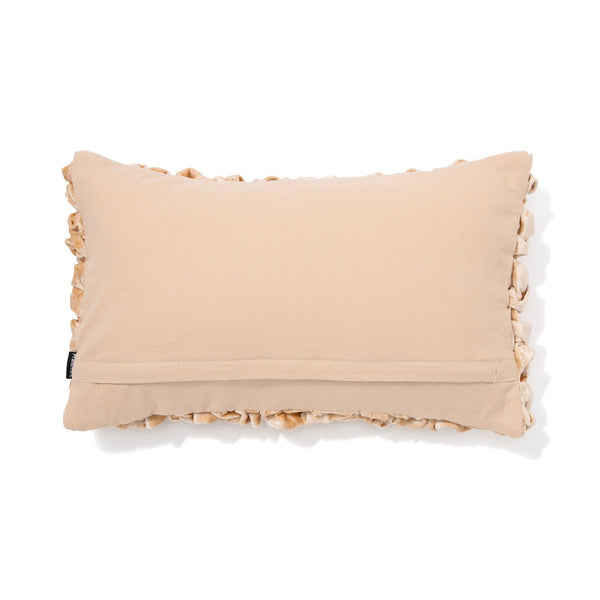 SMOCKING CUSHION COVER 25 BEIGE