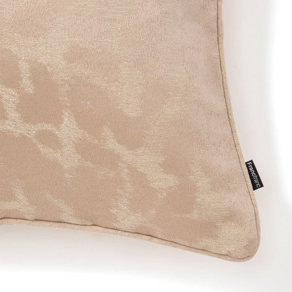 JACQUARD LEOPARD CUSHION COVER 45 GD
