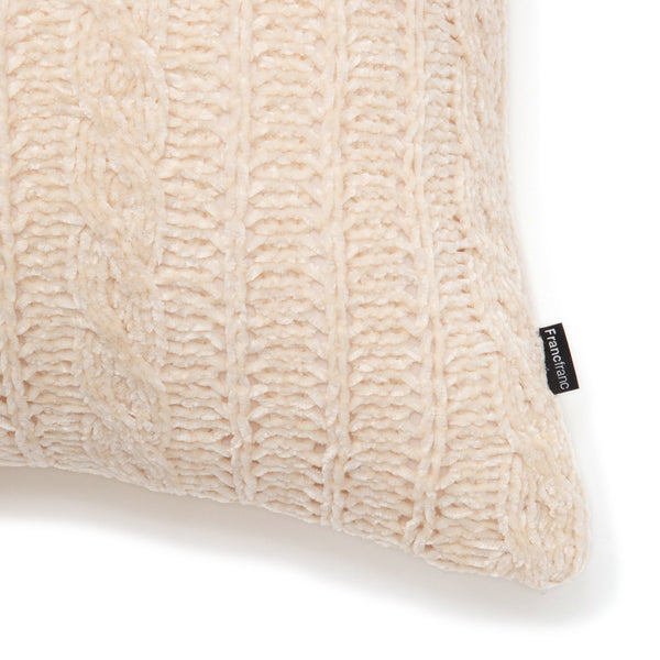 KNIT CABLE CUSHION COVER 45 IV