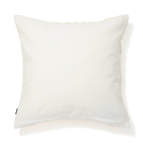 EMB ORNAMENT H CUSHION COVER 45 WHITE