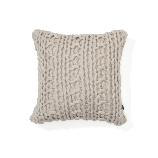 KNIT SOLID B CUSHION COVER 45 LGY