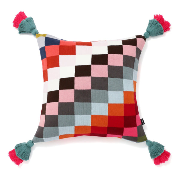 KNIT BLOCK CUSHION COVER 45 MULTI
