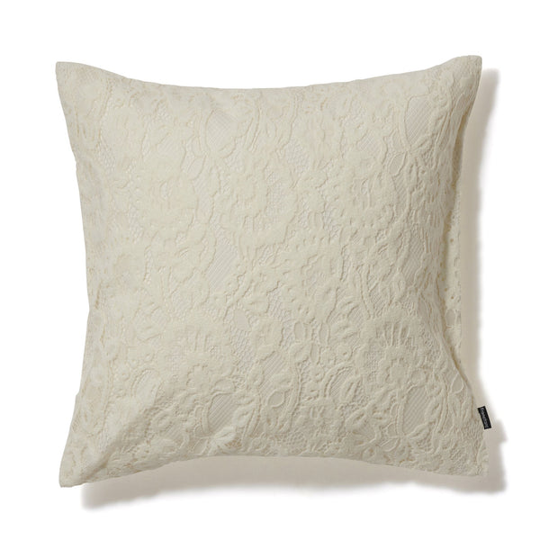 FLOWER LACE CUSHION COVER 45 White