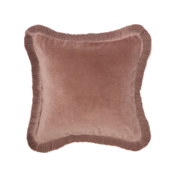 VELVET FRINGE CUSHION COVER 45 LIGHT PURPLE