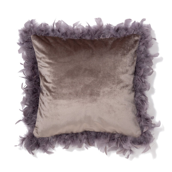 VELVET FUR CUSHION COVER 45 GY