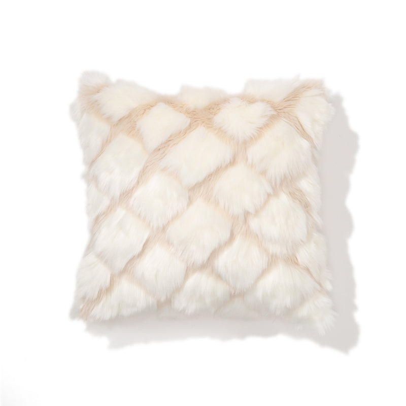 FUR Q CUSHION COVER 45 WH