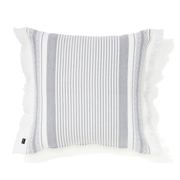 ETHNIC CUSHION COVER 60 White X Gray