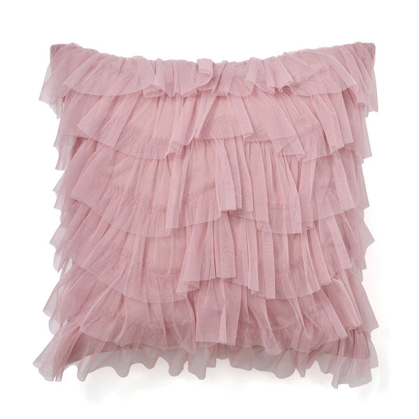 FRILL TULLE CUSHION COVER 45 Pink