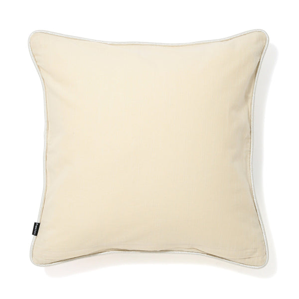 FLOWER CUSHION COVER 45 White