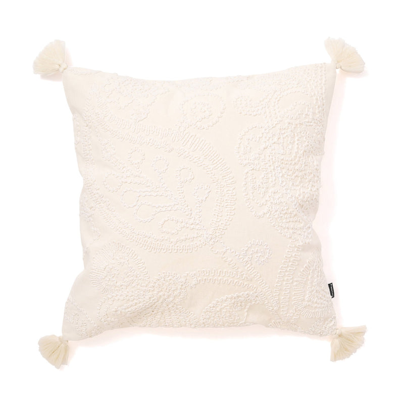 EMB COTTON CUSHION COVER 45 White
