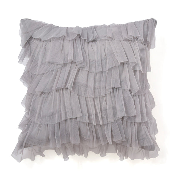FRILL TULLE CUSHION COVER 45 Gray