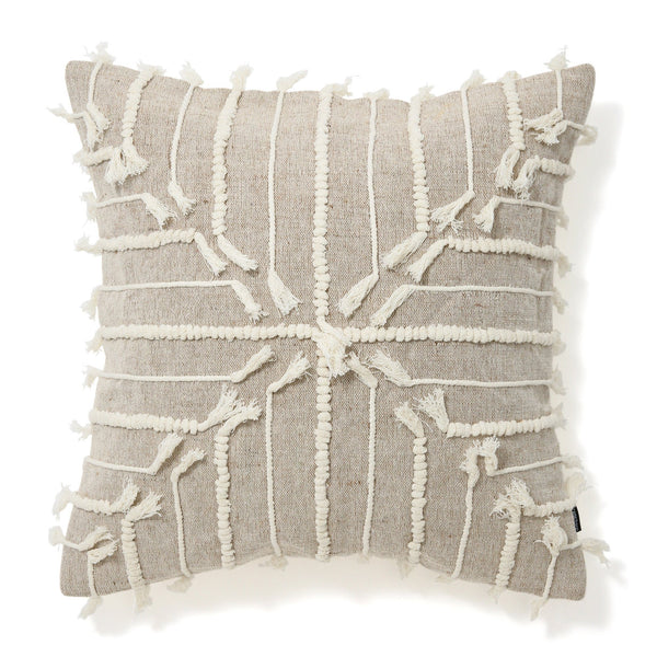 EMB CROSS CUSHION COVER 45 Natural